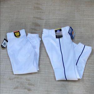 Two pairs of youth medium baseball pants. NWT.